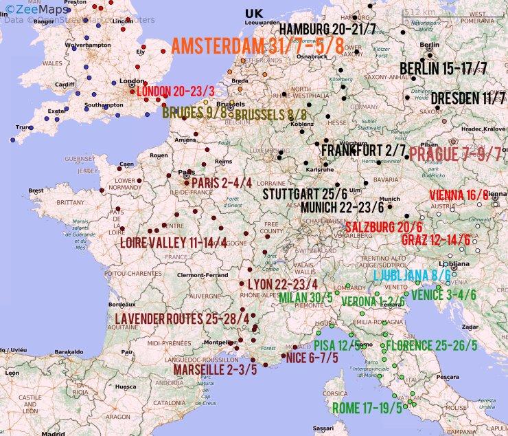 Europe Publish Map